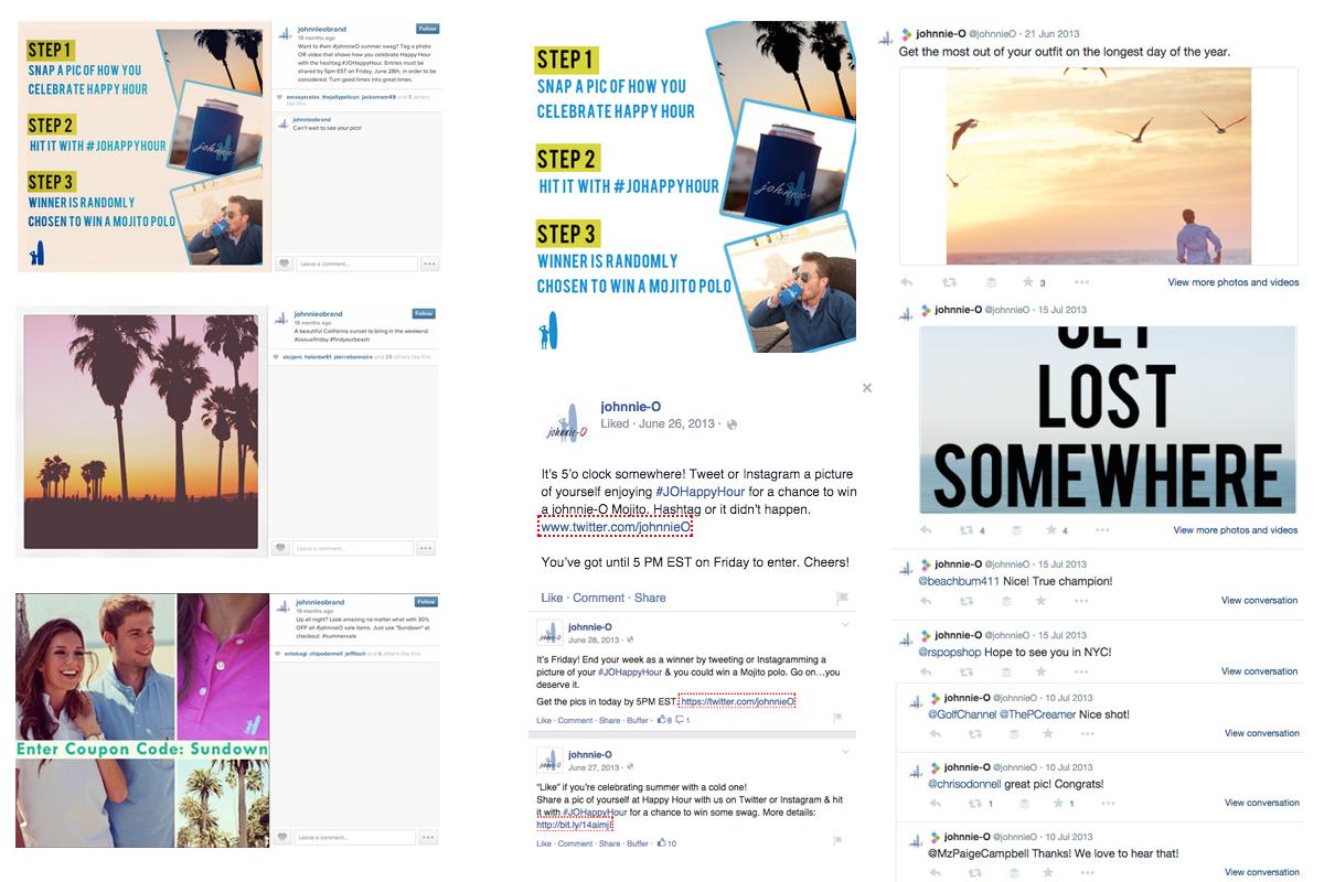 Johnnie-O social media content examples