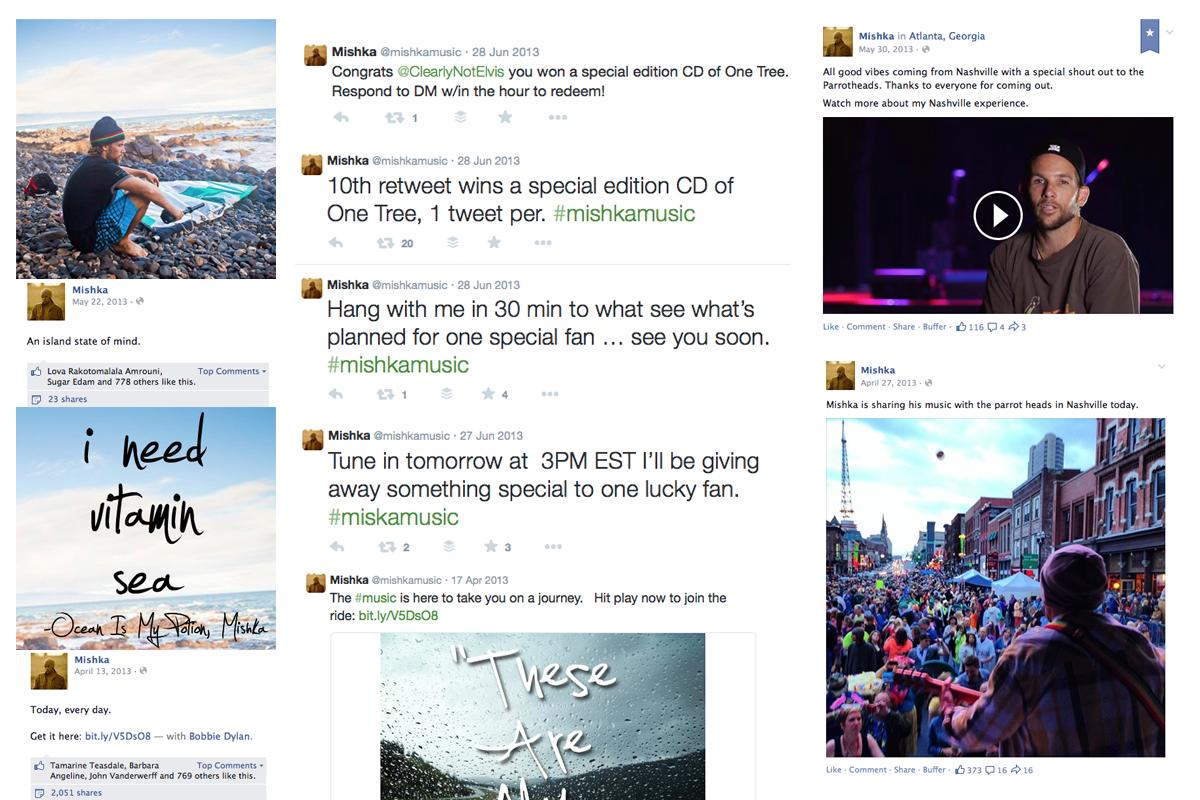 Mishka Music Social Media Content Examples