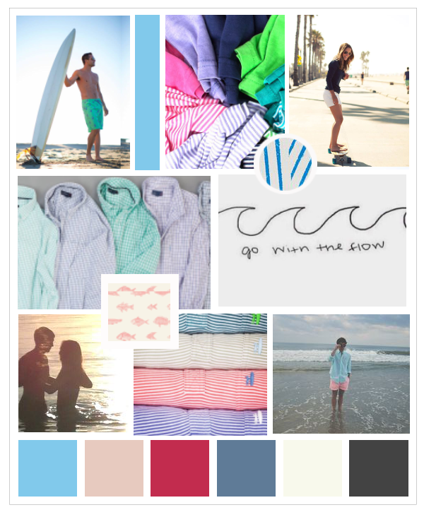 Johnnie-O Color Inspiration Board