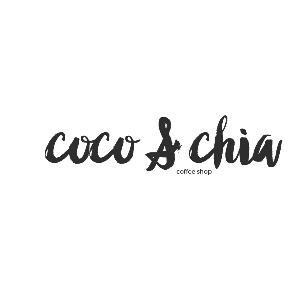 coco & chia tea logo design