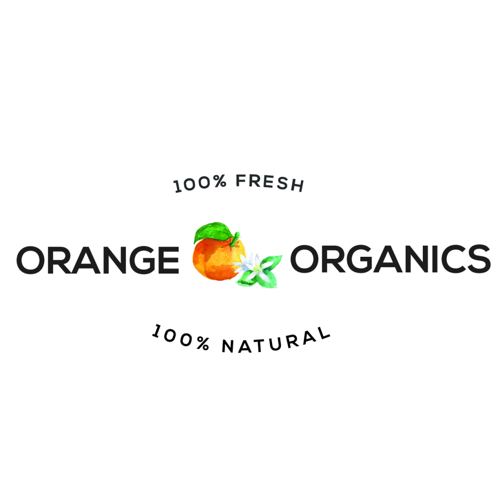 orange organics logo design