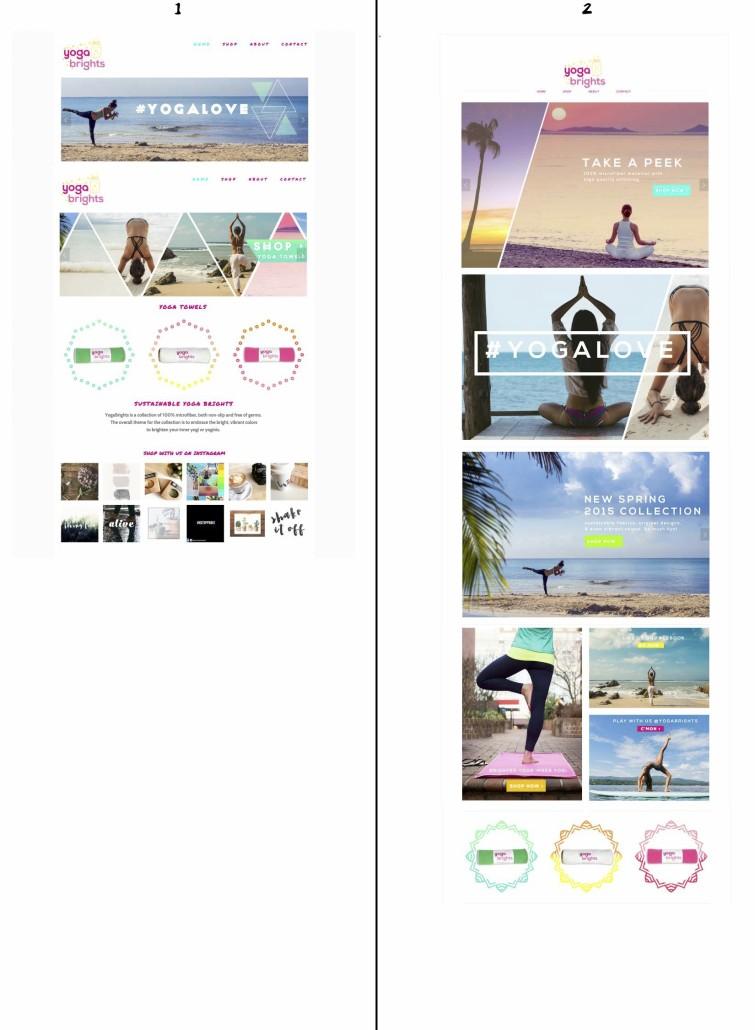 YogaBrights Website Mockups