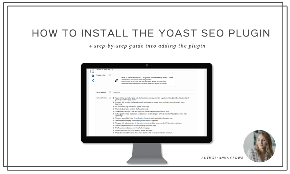 How to Install Yoast SEO Plugin for WordPress | Anna Crowe