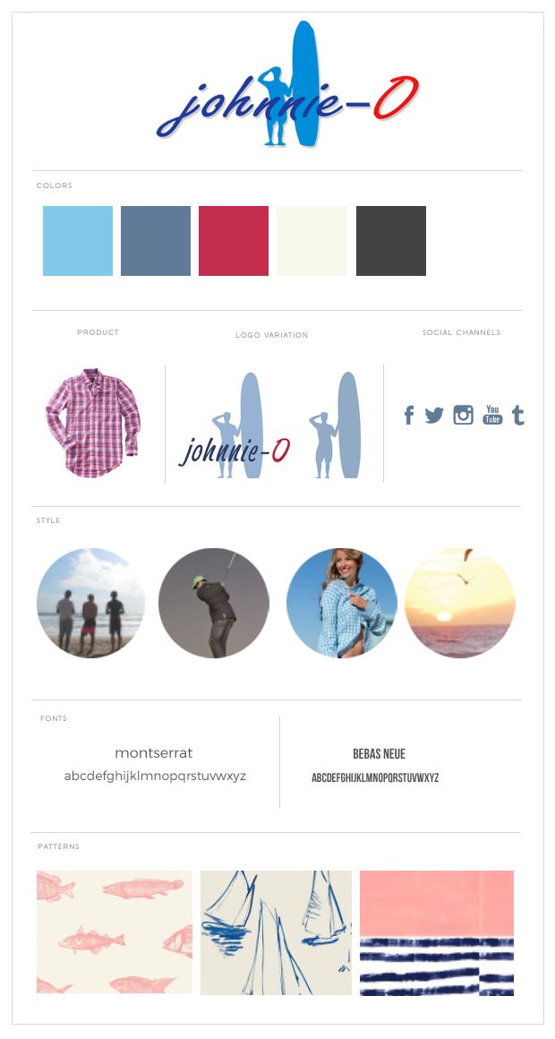 Johnnie-O brand style guide