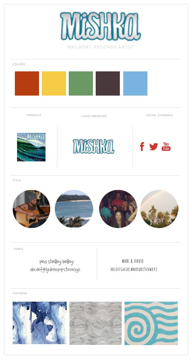Misha Music Brand Board