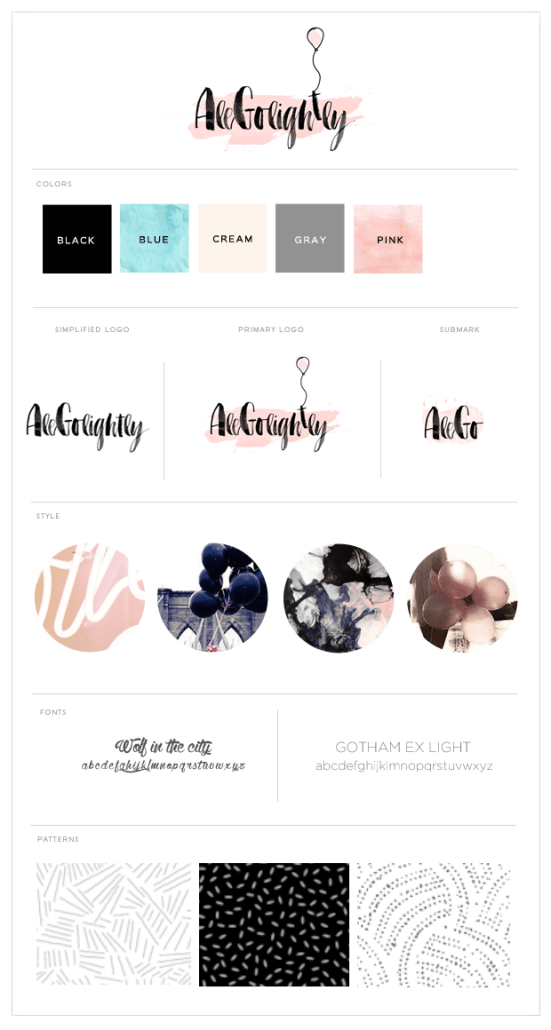 Alegolightly brand style guide graphic design | annaleacrowe