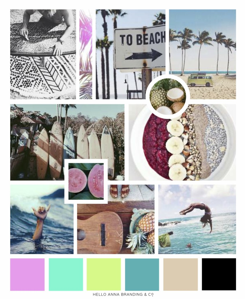 Bliss Bar Acai Brand Inspiration Board