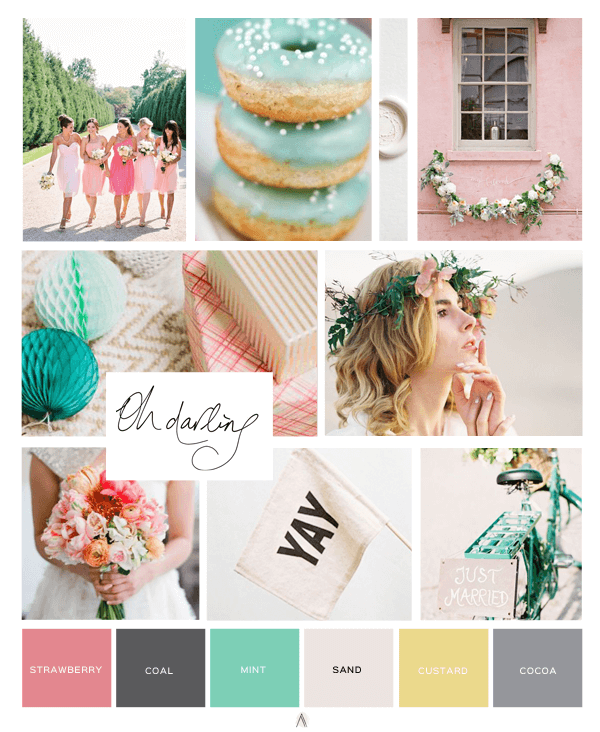 I Do Tags Color Inspiration Board graphic design | annaleacrowe