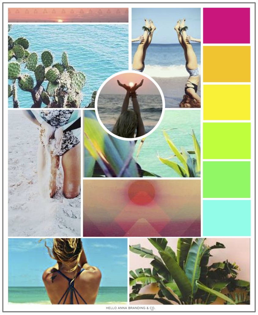 YogaBrights Color Inspiration Board