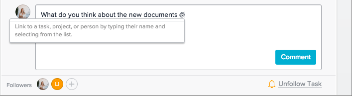 how to add comments in Asana