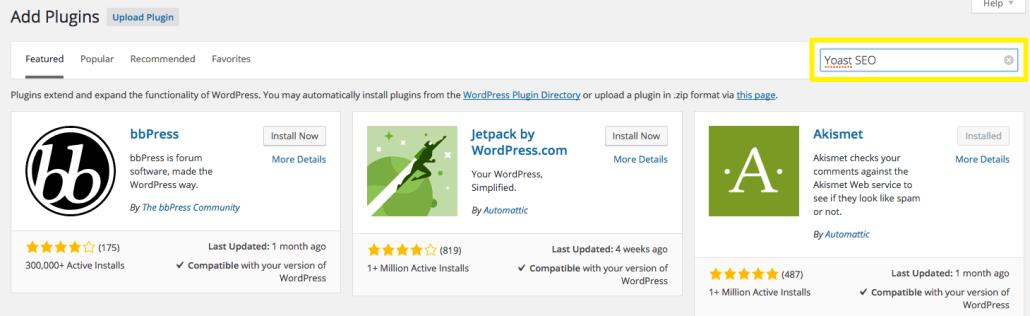 Yoast SEO Plugin Search on WordPress | Anna Crowe