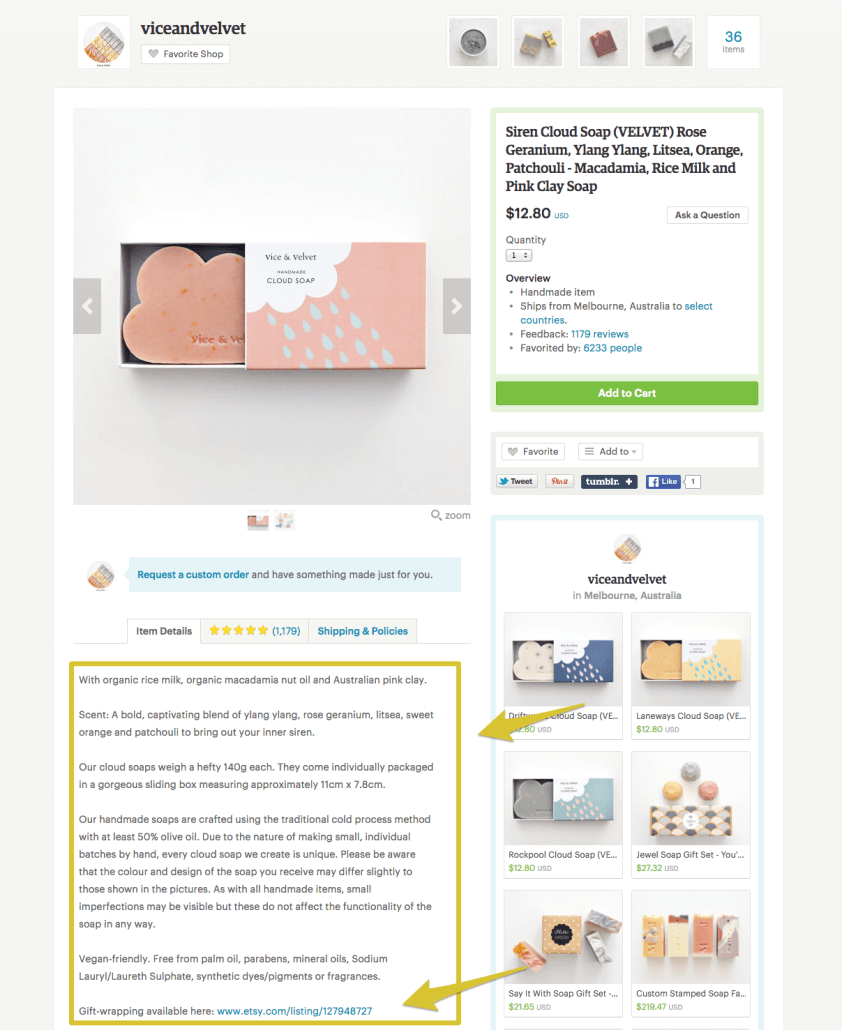 Vice And Velvet Etsy SEO | Anna Crowe